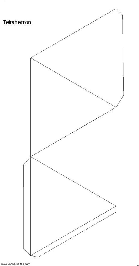 tetrahedron template tetrahedron template and many others paper craft