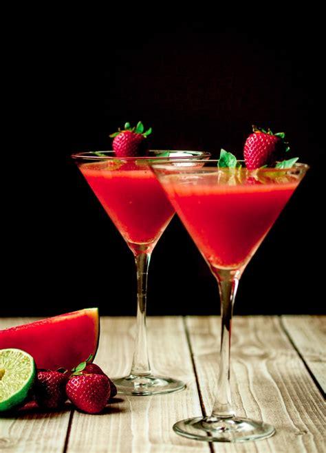 martini basil strawberry watermelon basil martini with vanilla vodka