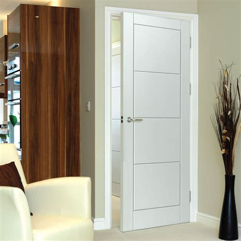 cool interior doors quattro smooth moulded panel door white primed jbk