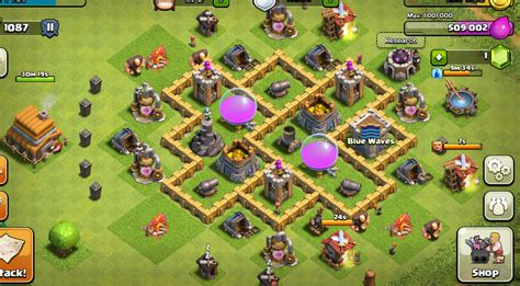 best layout in coc th5 th5 farming base clash of clans wiki