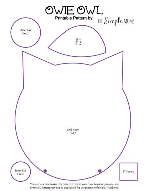 printable owl templates diy owie owl rice pack printable pattern a simple