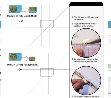 iphone 6 sim card cut template how do i cut my own micro and nano sim cards