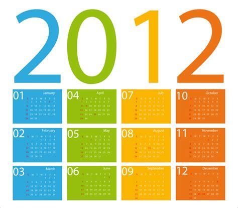 A Calendario In Inglese Calendario 2012 Inglese Calendar 2012