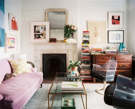 Eclectic Vintage Living Room by Pink Photos Design Ideas Remodel And Decor Lonny