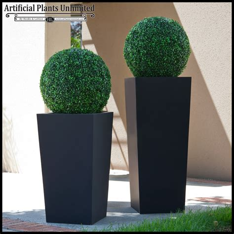 artificial topiary and planter artificial plants