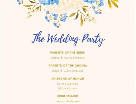 wedding program maker design  custom wedding