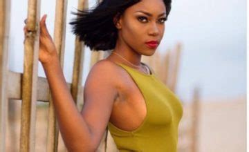 actress ynovnne nelson with bob hair yvonne nelson shows off new cornrow hairstyle in new photo
