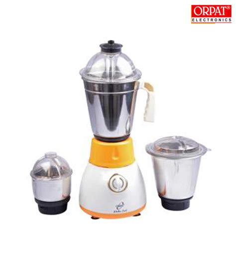 Orpat Kitchen Cool Mixer Grinder (Orange): Buy Online from