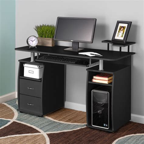 Raised Computer Desk Computer Pc Desk Work Station Office Home Raised Monitor Printer Furniture Ebay