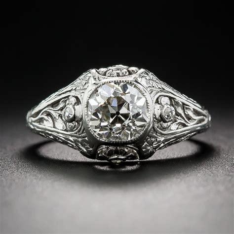 85 carat antique platinum engagement ring