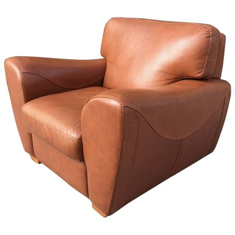 Club Chairs Sale Oversize Italian Leather Club Chair For Sale At 1stdibs