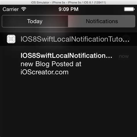 xcode tutorial notification local notification tutorial in ios8 with swift ioscreator