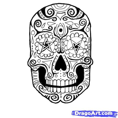 How To Draw A Mexican Skull