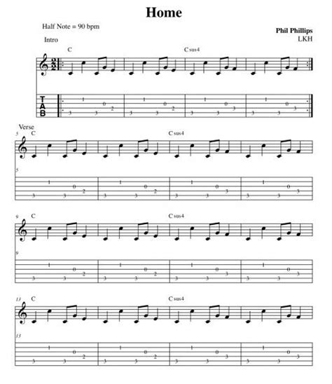 phillip phillips home guitar chords