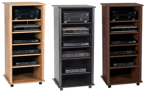 wooden audio rack cabinet woodproject