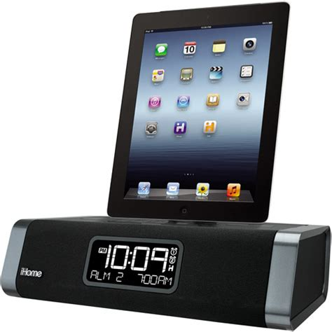 Lightning Dock Charging Iphone 5g5s5c66s6plusipodipad Mini ihome dual charging fm clock radio with lightning dock and usb charger for apple iphone
