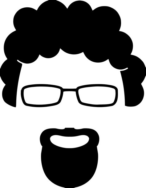Clipart - Goatee silhouette