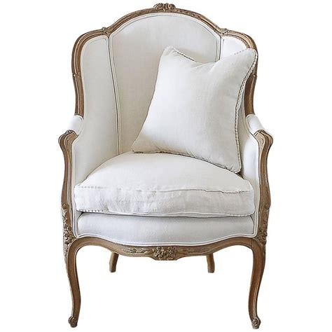vintage wingback chair antique french louis xv style wingback chair in white