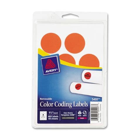 template for avery color coding labels avery removable print or write color coding labels for