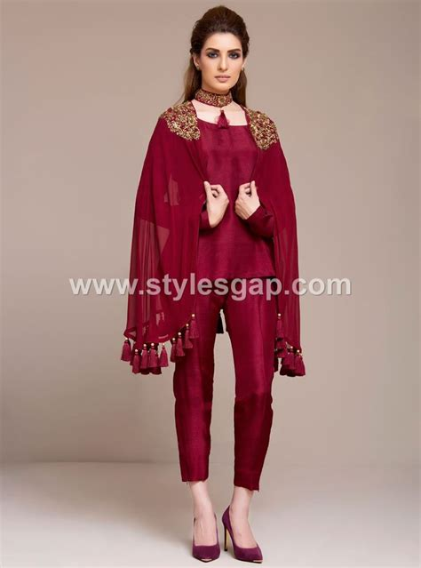 cape styles latest pakistani cape style dresses 2018 2019 top designer