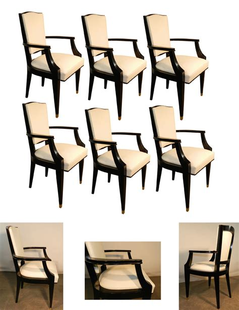 set of 6 dining room chairs jean pascaud set of 6 dining room chairs french art deco