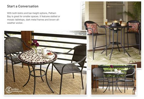 Pelham Bay Bistro Table Shop The Pelham Bay Patio Collection On Lowes