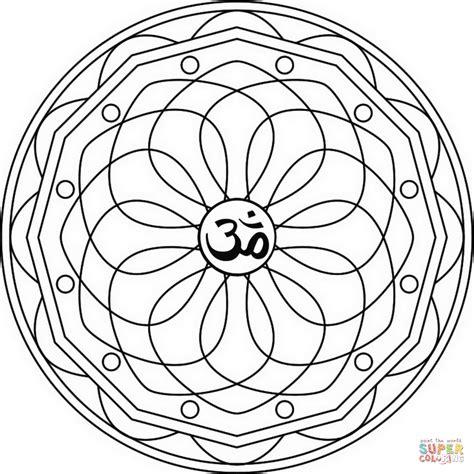 om mandala coloring pages ausmalbild ellipsen mandala mit om symbol ausmalbilder