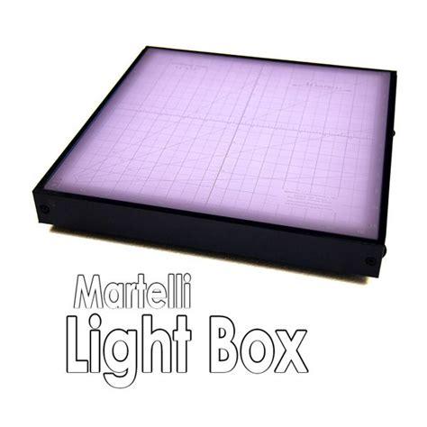 martelli light box with 12x12 translucent cutting mat