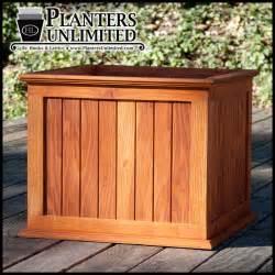 large wooden planters commercial large wood planter boxes
