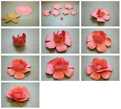 How To Make Roses Out Of Paper Easy - bits of paper rolled and easy to assemble 3d