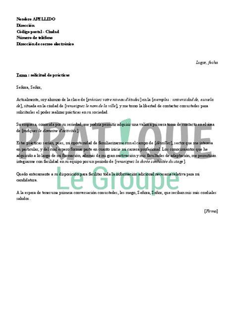 Présentation De Lettre En Espagnol Lettre De Motivation Pour Un Stage En Espagnol Pratique Fr
