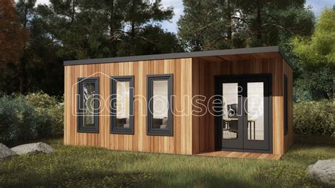 Contemporary Cabin kildare contemporary log cabin 6m x 4m loghouse ie