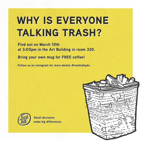 Why is everyone talking trash portland state university graphic design