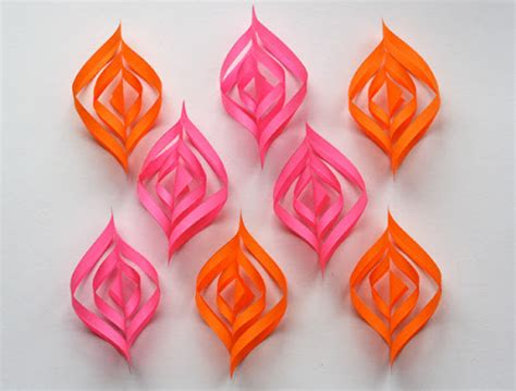 How To Make A Paper Ornament - diy paper ornaments how about orange