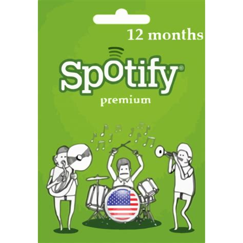 Spotify Premium Gift Cards - 12 month spotify usa gift card