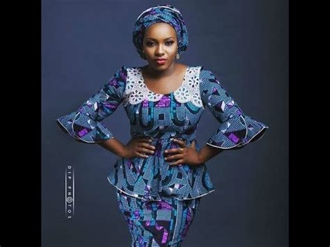 beautiful ankara blouse  wrapper styles youtube