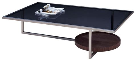 modrest cole modern smoked glass coffee table