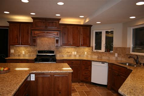 kitchen backsplash with cabinets cherry cabinets with granite countertops home d