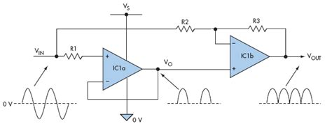 diode bridge op circuit active rectification