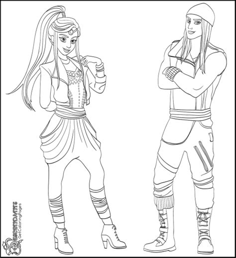 free coloring pages disney descendants descendants wicked world coloring page coloring pages