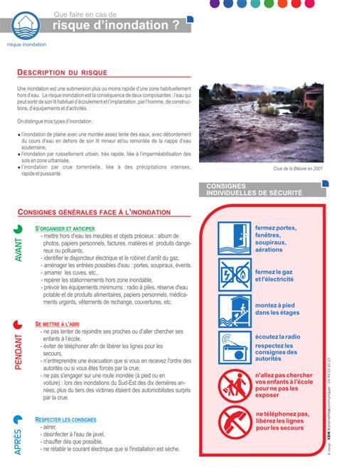 que faire en cas d inondation 4879 document d information communal sur les risques majeurs