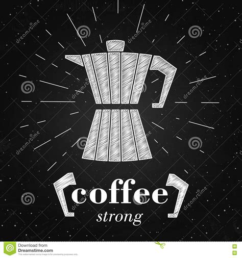typography poster generator vector illustration of coffee maker typography poster or banner on the chalkboard coffee