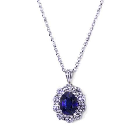 Handmade Designer Necklaces - handmade sapphire halo necklace jewelry designs