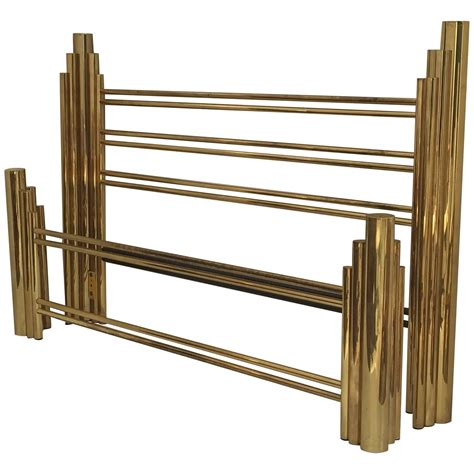 art deco beds tubular brass art deco style skyscraper king size bed at