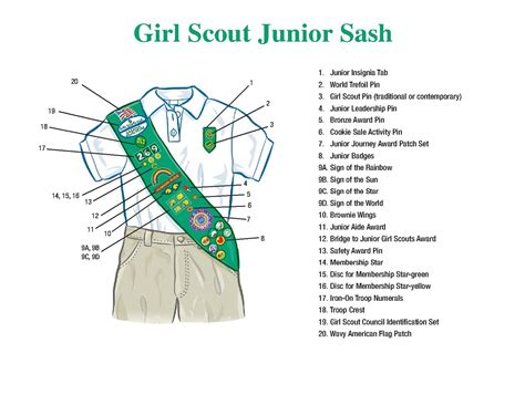 junior sash and vest public junior uniform girl scout troop 928 dunedin