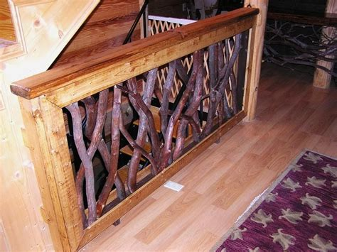 Rustic Handrail handmade rustic mountain laurel or rhododendron stair