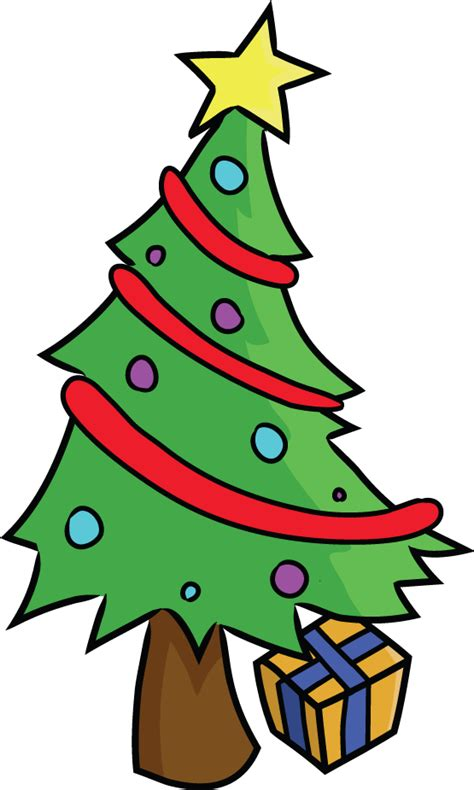 cartoon christmas tree december tree clipart best