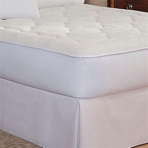 pillow top mattress cover bed bath beyond therapedic buy therapedic 174 sherpa reversible twin mattress pad from