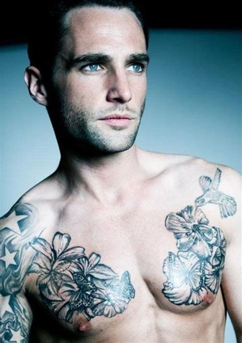 chest flowers tattoos for men tattoos for men