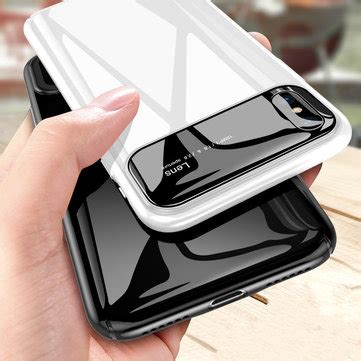 bakeey protective for iphone xs max 6 5 quot tempered glass lens protection pc glossy back
